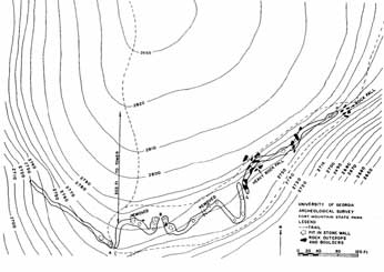 diagram of wall on Fort Mountain