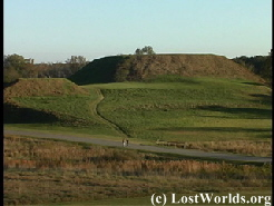 greater and lesser temple mounds at Ocmulgee Mounds
