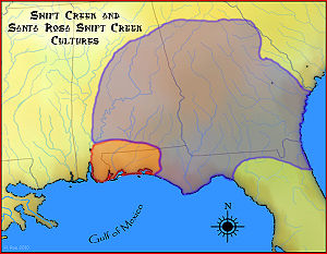 Map of Swift Creek culture area