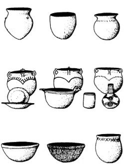Averett (top), Rood (middle), and Wakulla (bottom) pottery. (c) 2002 Used under fair use provisions of copyright law.