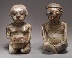 Human Effigy Pair from Nayarit Mexico
