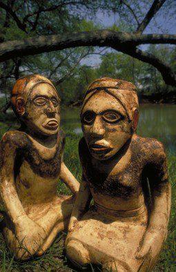 Etowah Mounds Human Effigy Statues