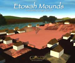 Etowah Mounds computer reconstruction