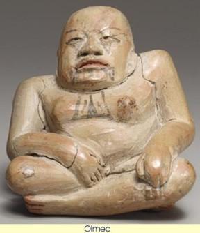 Olmec ceramic featuring forked-eye motif