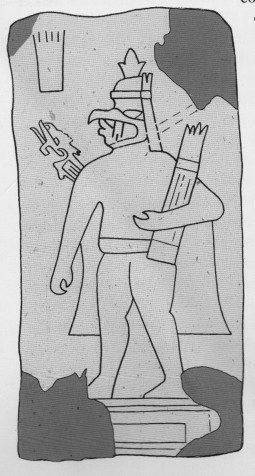 "Olmec ""bird man"" stela from Guerrero in west Mexico"