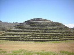 Circular stepped pyramid of west Mexico Teuchitlan tradition