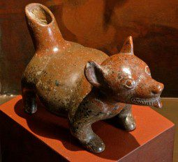 Colima dog pot w/ spout