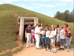 Earth Lodge at Ocmulgee Mounds in Macon, GA