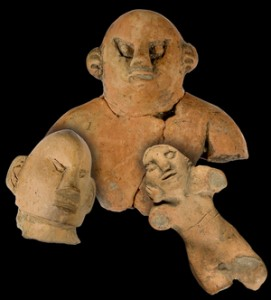 Mexican-syle artifacts from Mann Hopewell Site