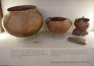 Ocmulgee Mounds Bibb Plain Mississippian pottery