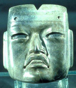 Olmec mask with cleft head