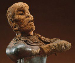 """Mirror Bearer"" 500 AD Maya / Olmec wooden statue"