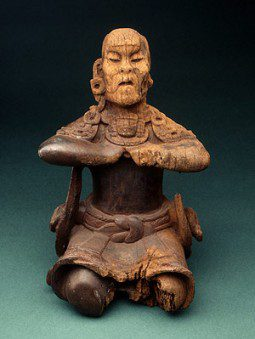 """Mirror Bearer"" Maya / Olmec wood sculpture"