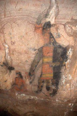 Olmec cave painting from Guerrero, Mexico