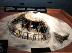 Pawnee Earth lodge model