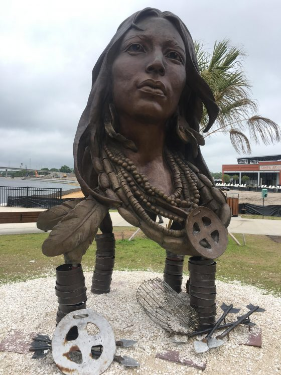 Princess Ulele / Uleyli statue in Tampa, Florida