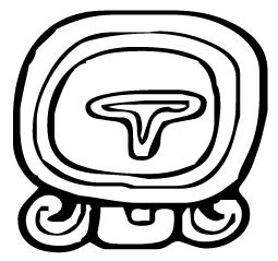 Mayan Ik glyph